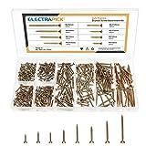 Electrapick Spanplattenschrauben 345 Stück Holzschrauben 4x50 4x40 4x30 3,5x35 3,5x30 3,5x25 3x20...
