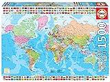 Educa Borras - Puzzle 1500 Teile - Politische Weltkarte (18500)