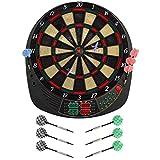 Best Sporting elektronische Dartscheibe Coventry Dartboard mit 12 Dartpfeilen und Ersatzspitzen LED...