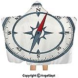 Gustave Tomlinson Mit Kapuze Decke, minimalistischer Entwurfs-Kompass mit Windrose, der Ihren Weg...