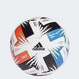 adidas Unisex-Adult Tsubasa Training Fußball, White/Solar Red/Glory Blue/Black, 5