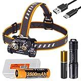 Geschenkpaket: Fenix HM65R 1400 Lumen Dual Beam wiederaufladbare Stirnlampe mit E01 V2.0 EDC...