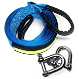 LIVEHITOP Abschleppseil 5 cm x 5 m, 17,600 lbs (8 Tonnen) Recovery Tow Strap Kit Fr Off-Road...