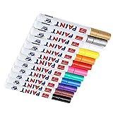 12 stücke Auto Wasserdichte Permanent Paint Marker Stift Reifenprofil Gummi Metall Hot Style Kit