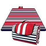 HOMFA 200 x 200 cm Picknickdecke XXL Stranddecke aus Fleece Wasserdicht groß Faltbar Leicht mit...