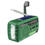 Tragbares Kurbel-Radio Weltempfänger, Degen DE13 FM AM SW Kurbel-Dynamo Solarenergie für den...