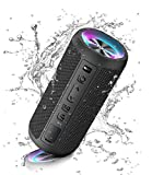 Ortizan Bluetooth Lautsprecher mit Licht, Tragbarer Bluetooth Box mit IPX7 Wasserschutz, Dualen...