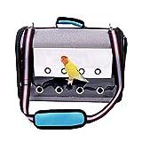 BHSHUXI Reisekäfig für Vögel, Papageien, zum Mitnehmen, leicht, Canvas, Orange