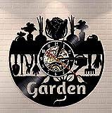 clockxm Weihnachts Vinyl Wanduhr Natur Leben Garten Wanduhr Garten Motiv Wandkunst Vinyl...