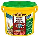 sera 07102 pond mix royal 3800 ml - Futtermischung aus Flocken, Sticks und mit 7 % Gammarus als...