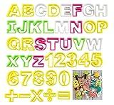 ilauke Fondant Buchstaben Ausstecher groß Ausstechform Modellierwerkzeug farbig Alphabet Zahlen...