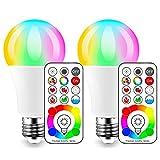 iLC LED Farbige Leuchtmittel RGB+Weiß Lampe Edison Dimmbare Farbige - 120 Farben RGBW - 10 Watt E26...