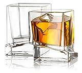 JoyJolt Carre Whiskygläser, 284 ml, 2 Stück