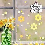 Wandtattoo Loft Fensterbild Frhling Blten Pastell Ostern Fensteraufkleber wiederverwendbar...