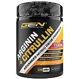 L-Arginin + L-Citrullin - 320 Kapseln - 1100 mg pro Kapsel - Citrullin 2:1 + Arginin Base 1:1...