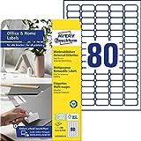 AVERY Zweckform L4732REV-10 Universal Etiketten (800 Klebeetiketten, 35,6x16,9 mm auf A4, wieder...