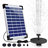AISITIN 5.5W Solar Springbrunnen Upgraded Solar Teichpumpe mit Solar Panel Eingebaute Batterie...
