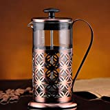 600ml Stainless Steel Glass Coffee Maker Teapot
