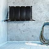 ECD Germany Reifenhalter für Wandmontage zur Lagerung von Reifen, für 4 Reifen, klappbar, bis 150...