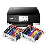 Canon Pixma TS8350 TS-8350 All-in-One Farbtintenstrahl-Multifunktionsgerät (Drucker, Scanner,...