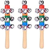 ZGHYBD 3pc Christmas Hand Bells Jingle Instrument Musical Kids Children Toy Percussion Toy,Newborn...