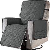 Sesselschoner mit Taschen, Fernsehsessel Schutzbezug Anti-Rutsch, Relaxsessel Sesselauflage Relax,1...