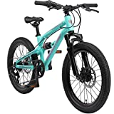 BIKESTAR Kinder Fahrrad Aluminium Fully Mountainbike 7 Gang Shimano, Scheibenbremse ab 6 Jahre | 20...