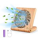 GeeRic USB Ventilator 3 Geschwindigkeit Wiederaufladbar Tischventilator Fan Lüfter den Schreibtisch...