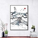 wukongsun Neue Chinesische Tuschmalerei Kunst Leinwand Kunst Poster Hintergrund Wohnzimmer Studie...