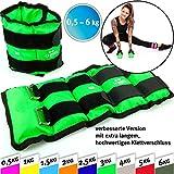 Softkettlebell und Gewichtsmanschetten Paar für Hand- und Fußgelenke, 2X 0,5kg – 2X 1kg - 2X...