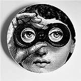 JKFJY Faltbare Kreative Muster Piero Fornasetti Teller, Keramik, Wanddekoration, Hintergrund Platte,...