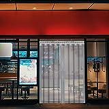 VEVOR Streifenvorhang PVC 1,25 x 2,25 m Lamellenvorhang mit 5 transparenten Streifen und...