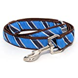 The Worthy Dog Prep School Hundeleine, gestreift, Blau, 2,5 x 12,7 cm
