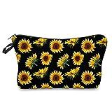 Sonnenblume Kosmetiktasche Blume Große Kapazität Make-up Aufbewahrungstasche Multifunktionale...