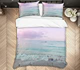 AJ Wallaper 3D Ocean Sky 2164 Bettwäsche-Set für Einzelbett, Queen, King Size, 3D-Foto, UK...