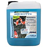 AQUALITY Gartenteich Wasseraufbereiter Pond 3in1 (GRATIS Lieferung in DE - Macht aus Leitungswasser...