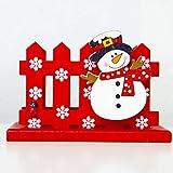 IBISHITAOXUNBAIHUOD Weihnachtsdekoration Visitenkartenhalter Weihnachten kreative Dekoration aus...
