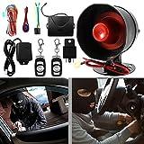 Qii lu 12 V Universal Auto Anti-Diebstahl Alarmanlage Hupe und Licht Stoßsensor Alarm Safe Lock mit...