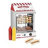 Royal Catering Hot Dog Steamer RCHW 2000 Wrstchenwrmer fr bis 200 Wrstchen 50 Brtchen Warmhaltegert...