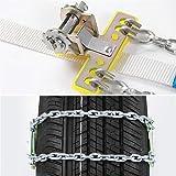 N\A Schneeketten für Auto, Autoreifen Anti-Skid Stahlkette Schnee Schlamm Sicherheit Reifen Gürtel...