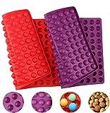 Silikon Backmatte, 2 Stück 2cm Halbkugel Silikonform Silikonmatte, Mehrzweck Wiederverwendbare...