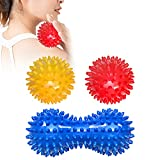 Massagebälle, 3er Set Igelball Set, Igel Ball mit Noppen perfekt für den Stress Reflexologie und...