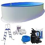Pool-Set KOMFORT Ø 3,50 x 1,20 m rund - 0,6mm Stahlmantel + 0,6mm Innenhülle (blau) mit...