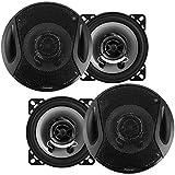 Qiilu Paar Horn, 2 Stck 4 Zoll Car Audio Koaxial Lautsprecher Full Range Frequenz Frequenz Stereo...