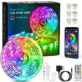 Bonve Pet LED Strip, Bluetooth RGB LED Streifen, Farbwechsel LED Lichterkette 6M mit Steuerbar via...