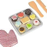 Kledio 4250772366774 Kinder Keks Backset aus Holz FSC 100%, ideale Ergänzung für jede Spielzeug...