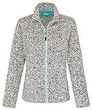 icefeld Damen Fleece Jacke/Fleecejacke, grau meliert in Größe L