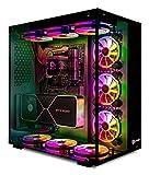 Talius Cronos Gaming-Gehäuse ATX, gehärtetes Glas, RGB-Lüfter (erhältlich in DREI Farben),...