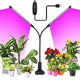 20W LED Pflanzenlampe, KOOSEED 40LEDs Pflanzenlicht mit 3 Licht Modus, 10 Helligkeitsstufen und...