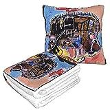 XCNGG Jean Michel Basquiat Ohne Titel Schädel Reisekissen Decke Gut gereist 2 in 1 Wurfdecke Ideal...